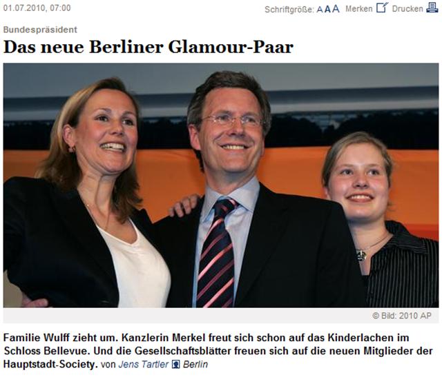 Bundespräsident  Das neue Berliner Glamour-Paar   FTD.de-143200