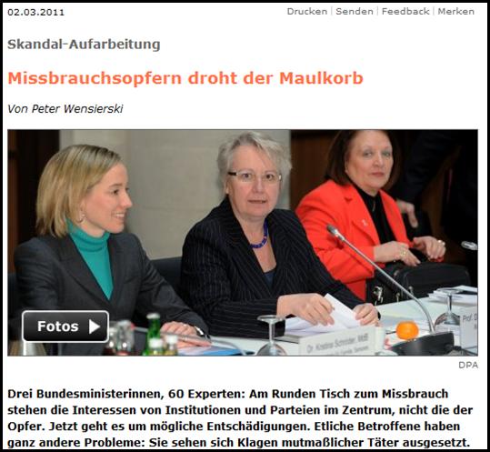Skandal-Aufarbeitung  Missbrauchsopfern droht der Maulkorb - SPIEGEL ONLINE - Nachrichten - Panorama-022720