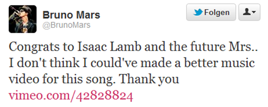 Twitter   BrunoMars  Congrats to Isaac Lamb and-182837