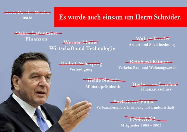 einsam unter Gerhard Schröder