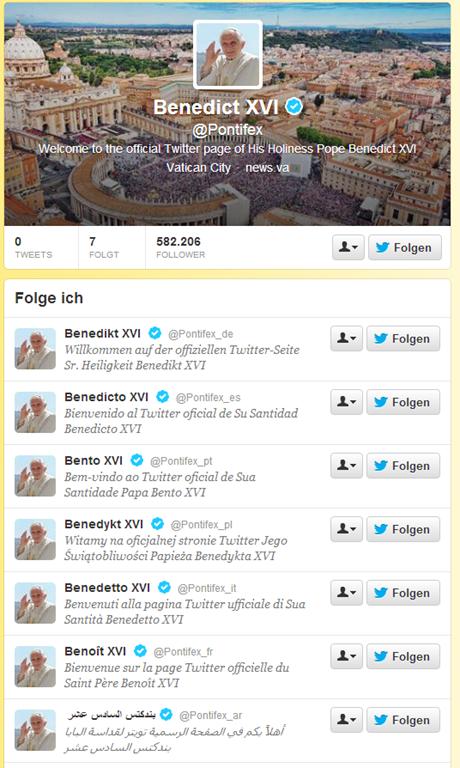 Benedict XVI  Pontifex  auf Twitter-114718