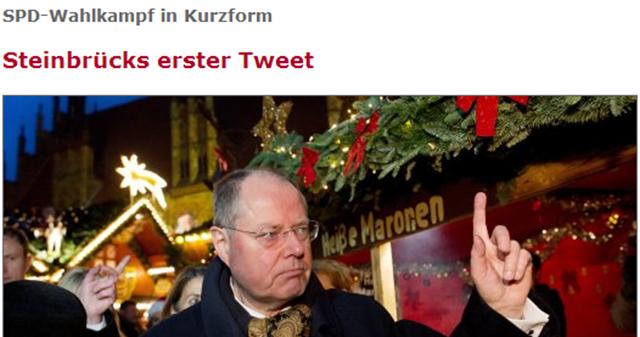 SPD-Kandidat Peer Steinbrück twittert unter #fragpeer - SPIEGEL ONLINE-095847