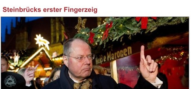 Steinbrück fingerzeig