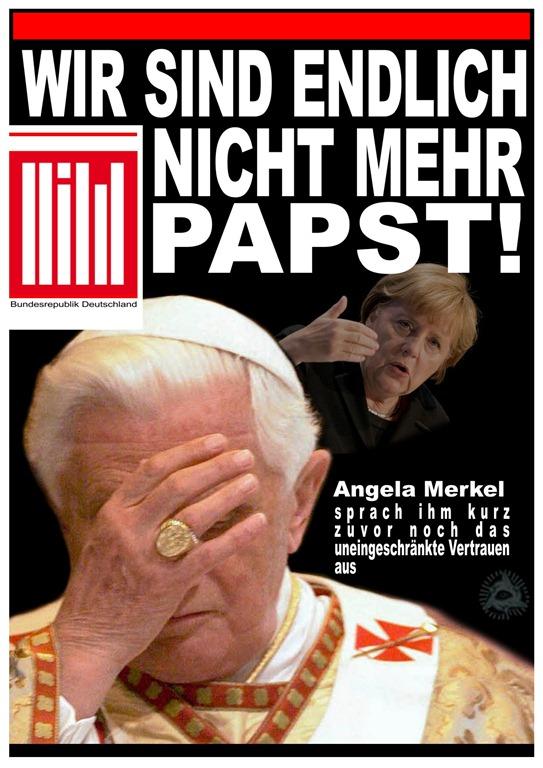 Wir sind enlich nicht mehr Papst