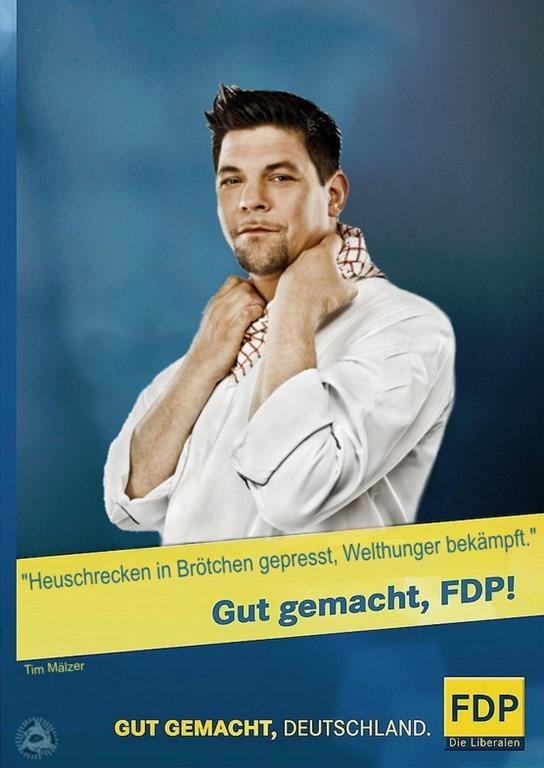 Tim Mälzer FDP Kampagne 2013