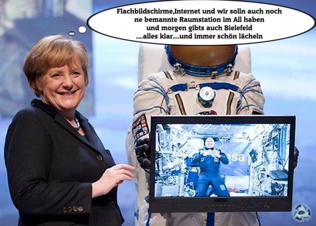 Flachbildschirme Internet Raumstation Neuland