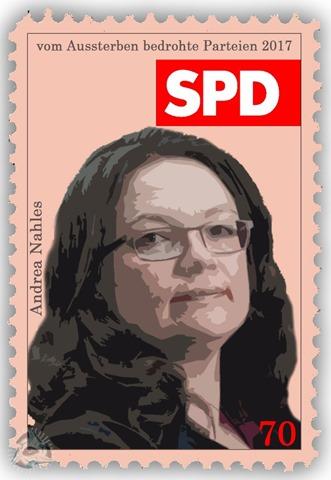 vom Aussterben bedrohte Parteien - SPD - Andrea Nahles