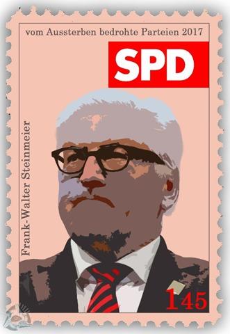 vom Aussterben bedrohte Parteien - SPD - Frank-Walter Steinmeier