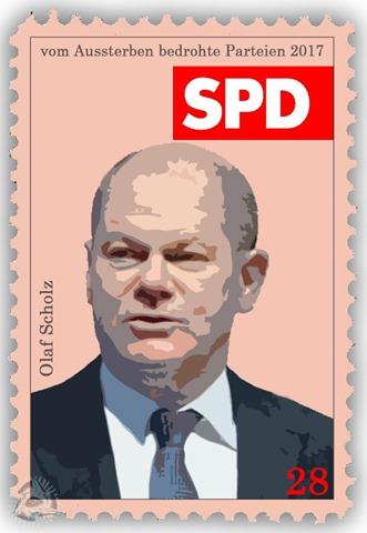 vom Aussterben bedrohte Parteien - SPD - Olaf Scholz
