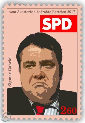 vom Aussterben bedrohte Parteien - SPD - Sigmar Gabriel